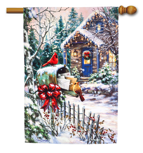Winter House Flags – Decorative Outdoor Yard Flags for ...