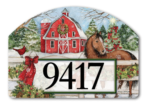 Yard designs magnetic home address signs and plaques for Christmas yard signs patterns