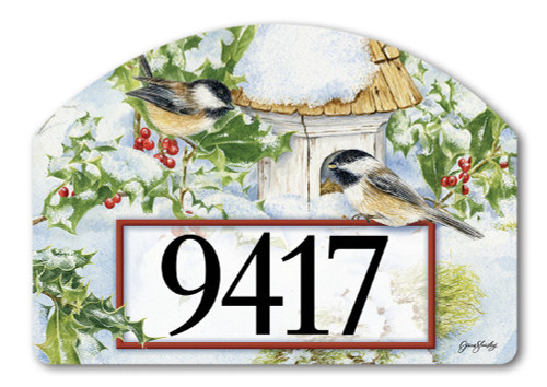 Chickadee Welcome Yard DeSign Address Sign