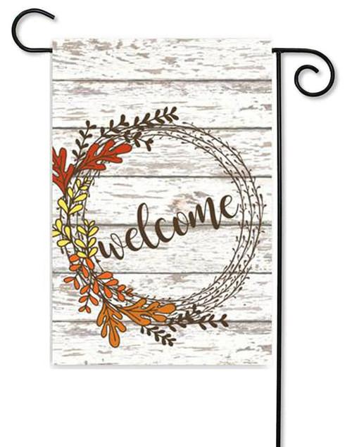 "Welcome Wreath Fall Garden Flag - 12"" x 17.5"" - Second East (G7445)"