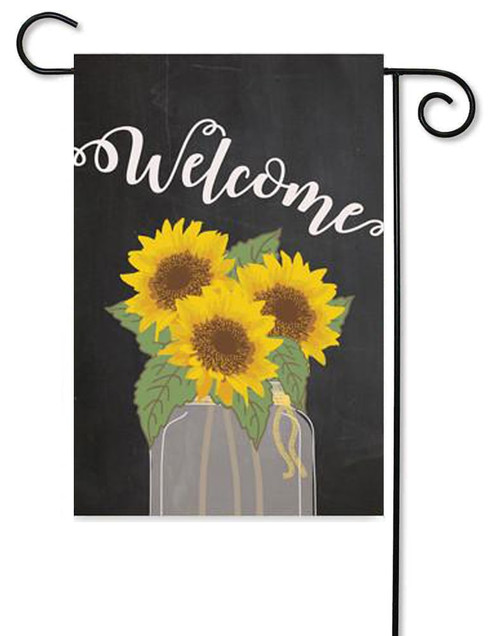 "Welcome Sunflower Garden Flag - 12"" x 17.5"" - Second East (G7446)"