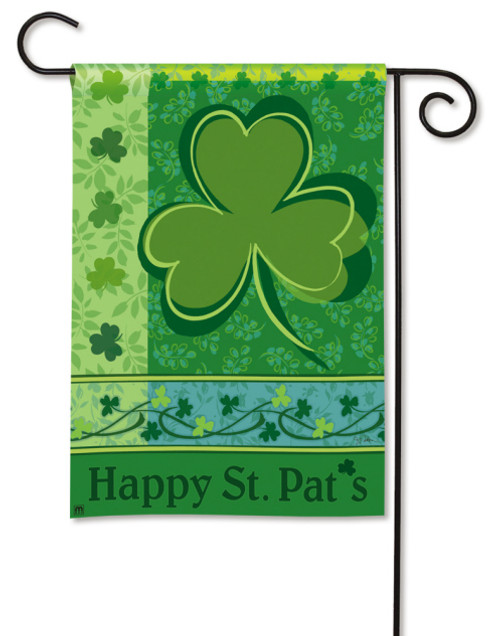 "Happy St. Pat's Garden Flag - 12.5"" x 18"""