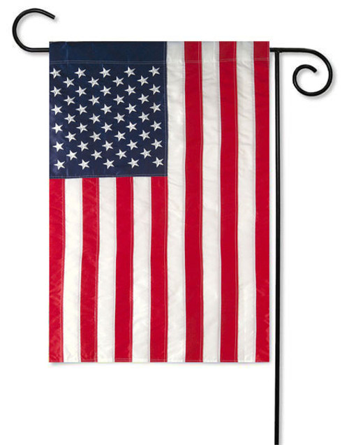 USA Deluxe Applique Garden Flag