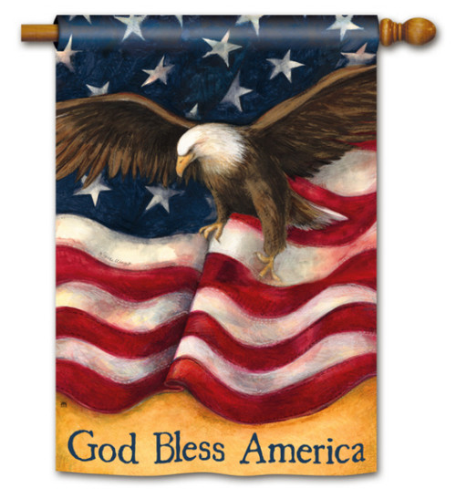 American Pride Patriotic House Flag - 2 Sided Message