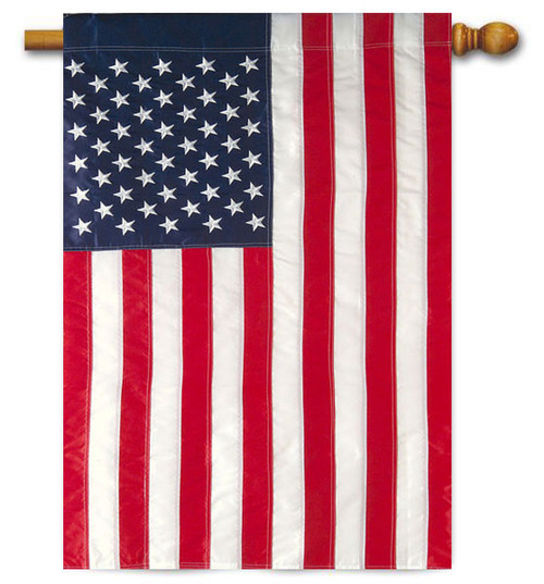 "USA Standard American House Flag - 28"" x 44"" - Applique"