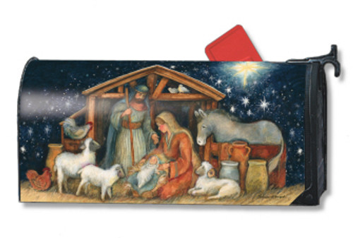 Holy Night Mailwraps Magnetic Mailbox Cover