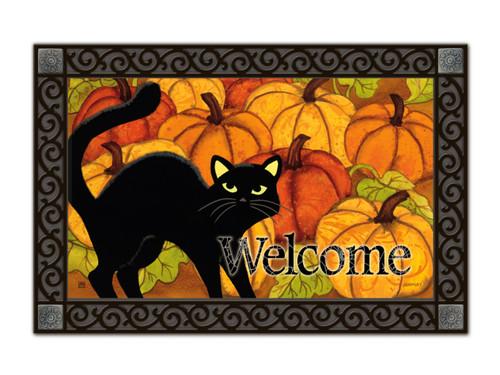 Pumpkin Patch Cat Doormat by MatMates