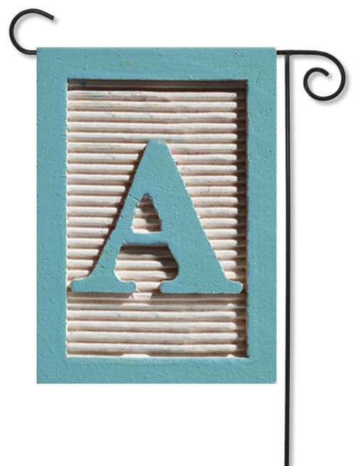 Monogram Art Garden Flag