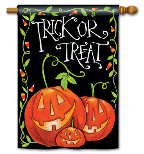 "Halloween Treat House Flag - 28"" x 40"" - BreezeArt"