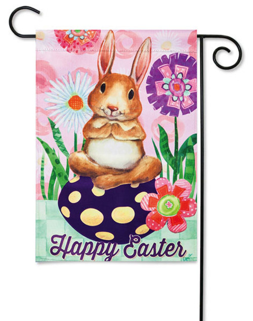 """Happy Easter Bunny Garden Flag - 12.5"""" x 18"""" - 2 Sided Message"""