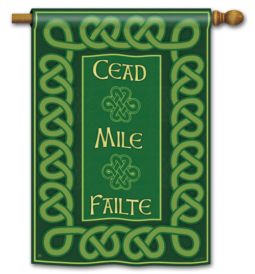"A Hundred Thousand Welcomes St. Pat's House Flag - 28"" x 40"""