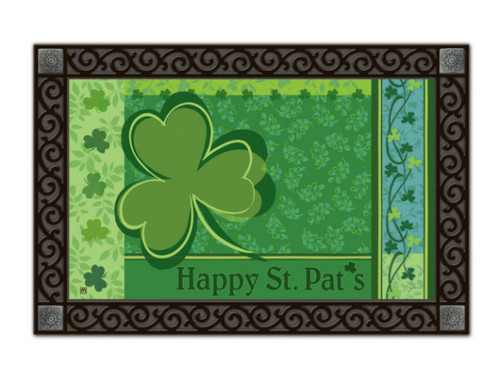 Happy St. Pat's Doormat by MatMates