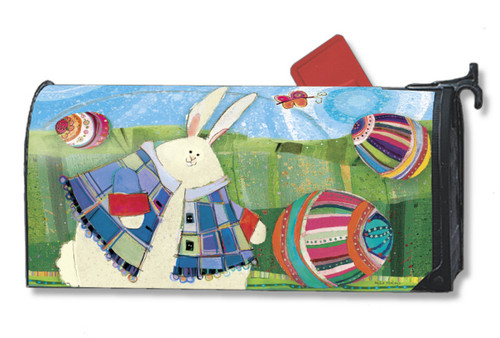 Funny Bunny Mailwraps Magnetic Mailbox Cover