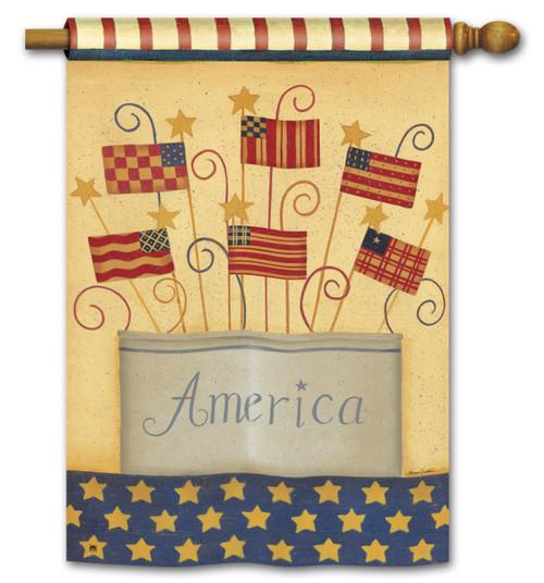 "Land That I Love Patriotic House Flag - 28"" x 40"""