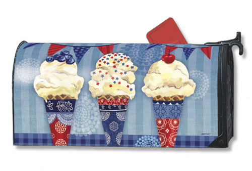 Scoops of Summer Mailwraps Magnetic Mailbox Cover