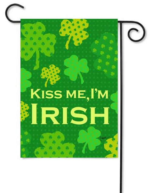 Kiss Me I'm Irish Garden Flag by Toland