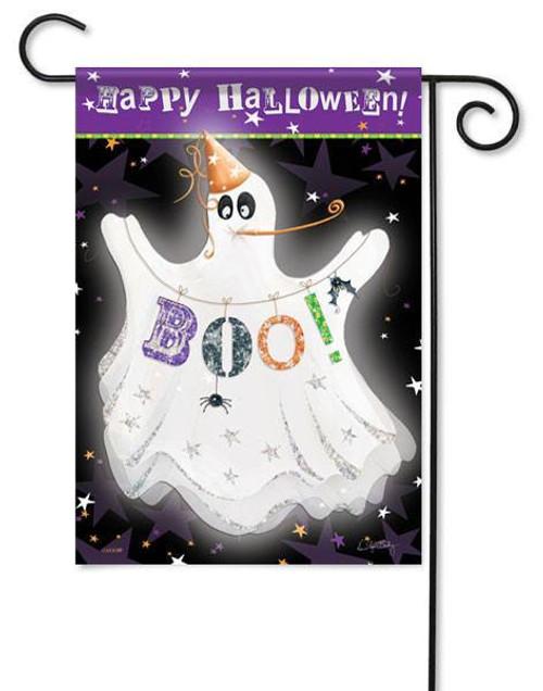 Ghost Halloween garden flag