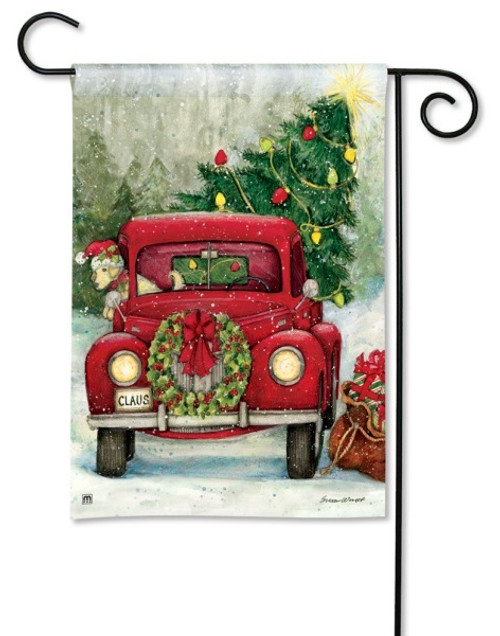 "Bringing Home the Tree Garden Flag - 12.5"" x 18"""