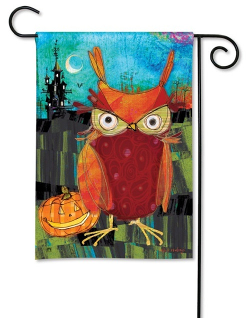 "Happy Owloween Garden Flag - 12.5"" x 18"""
