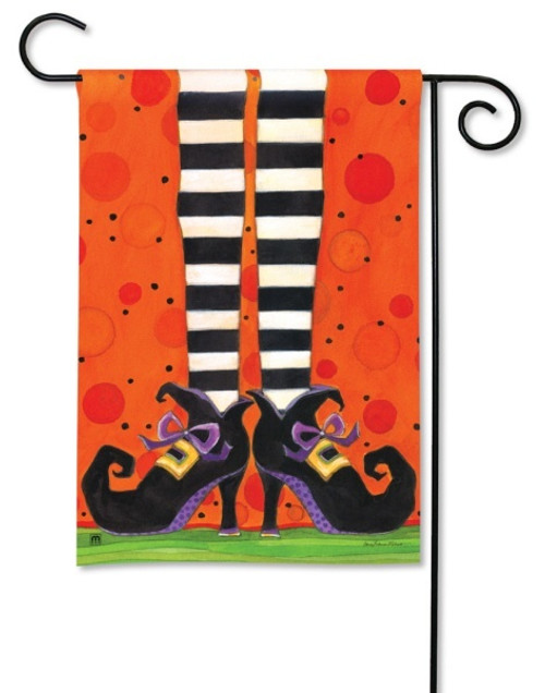 "If the Shoe Fits Halloween Garden Flag - 12.5"" x 18"""