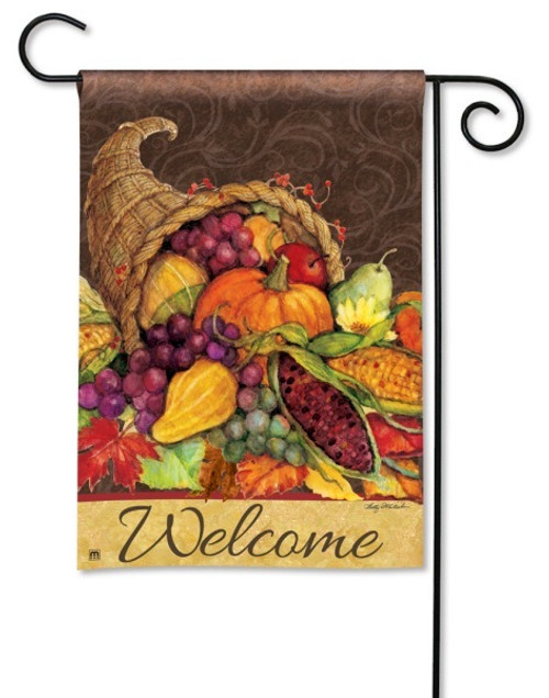 "Thanksgiving Harvest Garden Flag - 12.5"" x 18"""