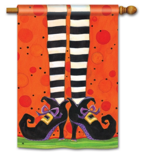 "If the Shoe Fits Halloween House Flag - 28"" x 40"""