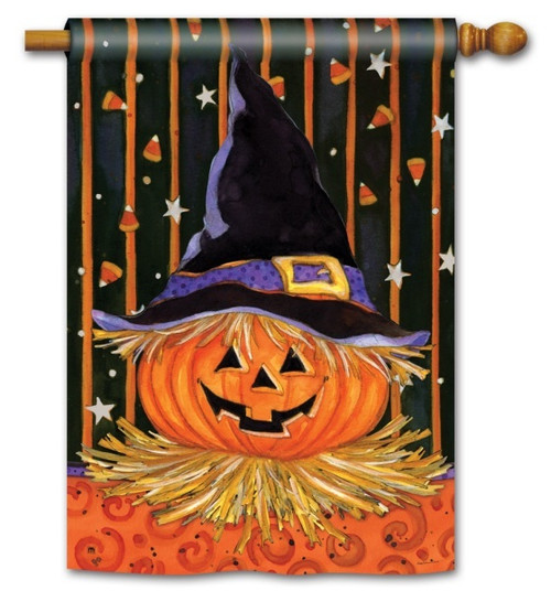 "Jack in the Hat Halloween House Flag - 28"" x 40"""