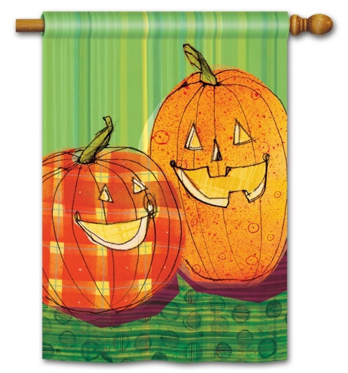 "Punkin Time House Flag - 28"" x 40"""