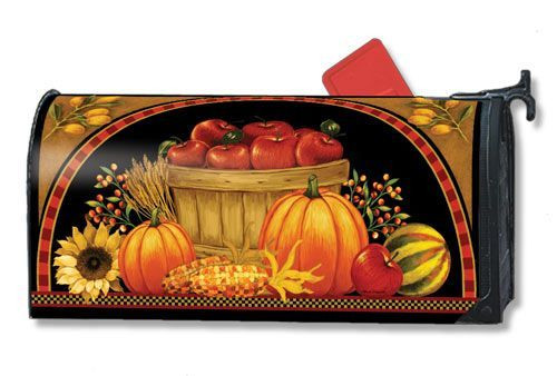 Harvest Basket Magnetic Mailbox Cover