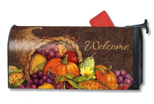 Thanksgiving Harvest Magnetic Mailbox Cover