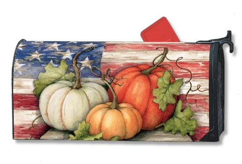 Patriotic Pumpkins Magnetic Mailbox Cover