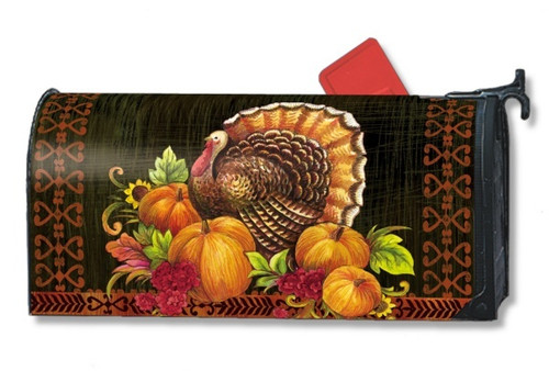 Give Thanks Turkey Magnetic Mailbox Cover
