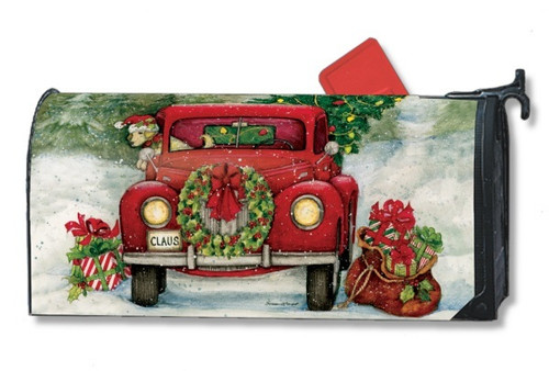 Bringing Home the Tree Magnetic Mailbox Cover