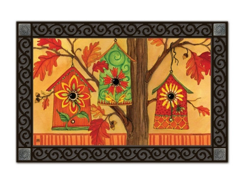 Fall Birdhouses Doormat by MatMates