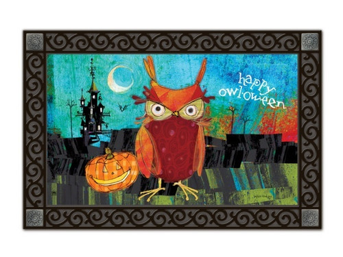 Happy Owloween Doormat by MatMates