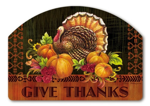 Give Thanks Turkey Yard Design Magnetic Sign