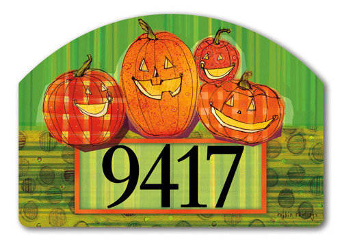 Punkin Time Yard Design Address Sign