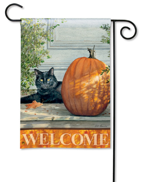 "Black Cat Garden Flag - 12.5"" x 18"""