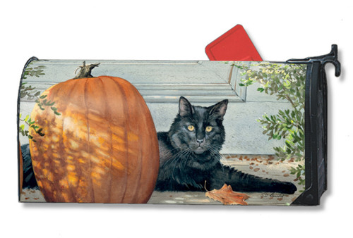 Black Cat Mailwraps Magnetic Mailbox Cover