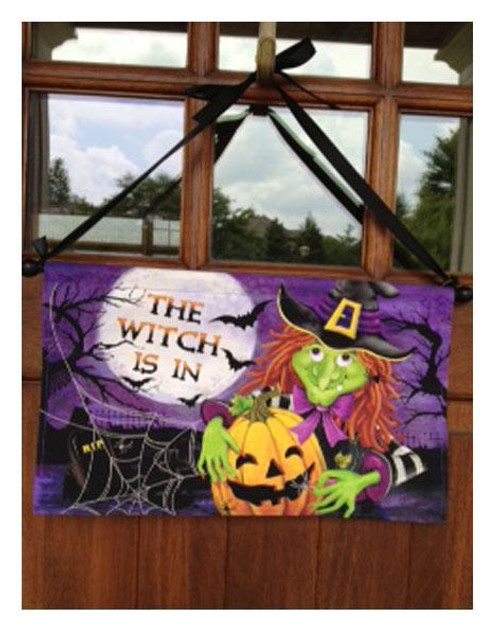 Halloween Door Banner - Includes Dowel & Ribbon Ready to Display