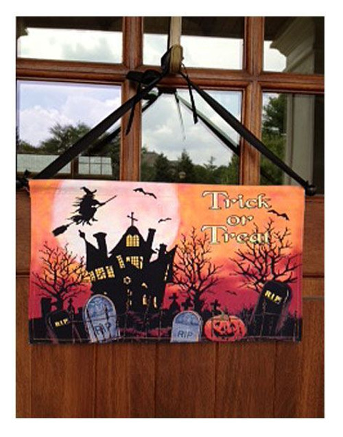 "Trick or Treat Halloween Door Decoration - 19"" x 20"""