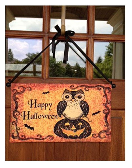 "Happy Halloween Owl Door Decoration - 19"" x 20"""