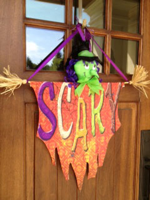 "Scary Witch Halloween Door Decoration - 24"" x 30"""