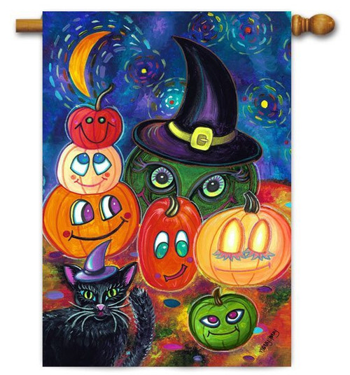 "Party Pumpkins Toland House  Flag - 28"" x 40"""