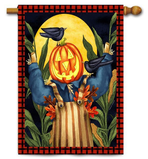 "Scare Crow Toland House  Flag - 28"" x 40"""