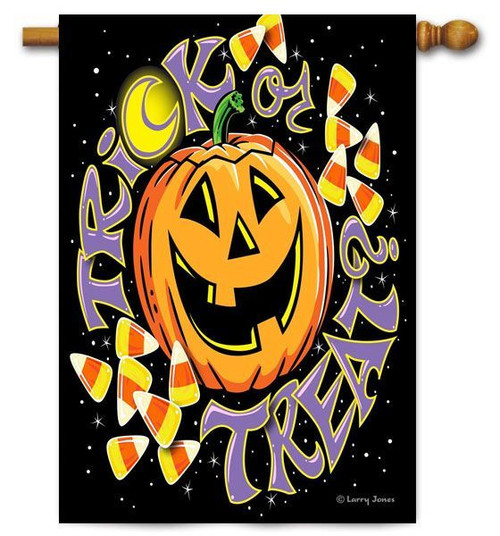 "Trick Or Treat Toland House  Flag - 28"" x 40"""