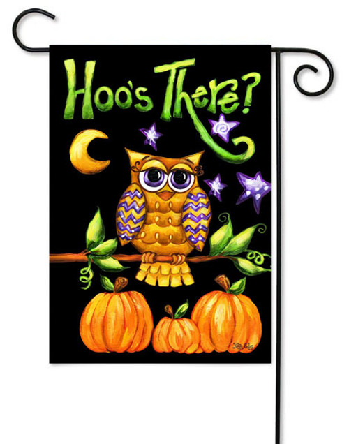 "Hoo's There Toland Garden Flag - 12.5"" x 18"""