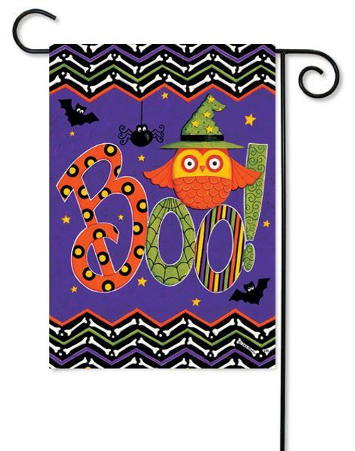 "Owl Boo Garden Flag - 12.5"" x 18"" - 2 Sided Message"