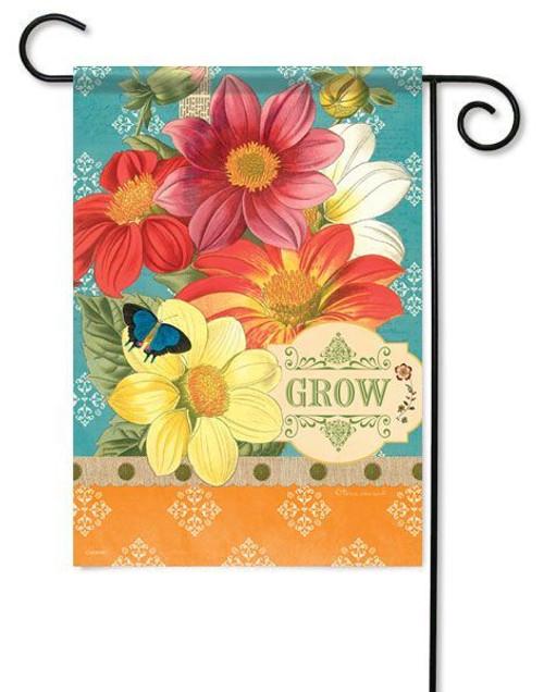 """Garden Grow Garden Flag - 13"""" x 18"""" - 2 Sided Message"""