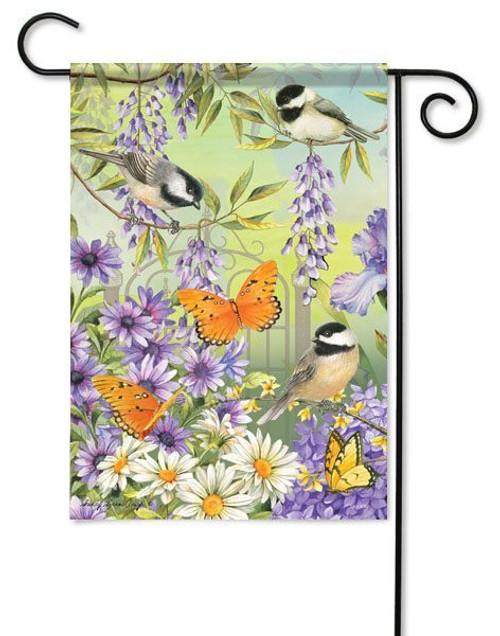 Decorative outdoor garden flag